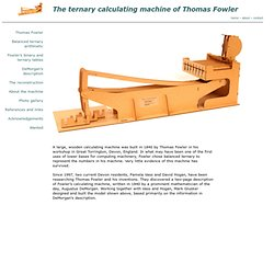 The ternary calculating machine of Thomas