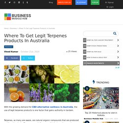 Where To Get Legit Terpenes Products In Australia