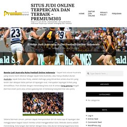 Bandar Judi Australia Rules Football Online Indonesia