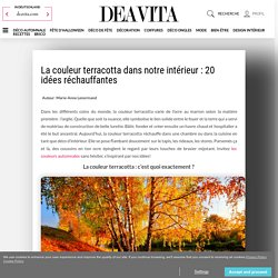 La couleur terracotta : 20 idées douces et réchauffantes