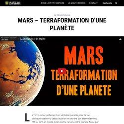 Mars - Terraformation d'une planète