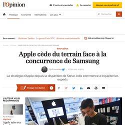 Apple cède du terrain face à la concurrence de Samsung