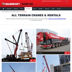 All Terrain Cranes for Rent
