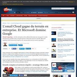 L'email Cloud gagne du terrain en entreprise. Et Microsoft domine Google - ZDNet