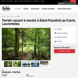 Terrain vacant à vendre à Saint-Faustin/Lac-Carré, Laurentides
