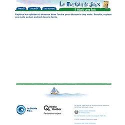 Terrain de jeux pour 2ième, édition 2006 jeux a