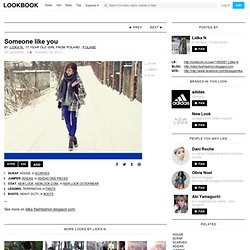 "House Scraf, Adidas Jumper, New Look Coat, Terranova Leggins, Heavy Duty Boots //""Someone like you"" by Lidka N"