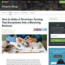 How to Make A Terrarium: Turning Tiny Ecosystems Into a Blooming Busin