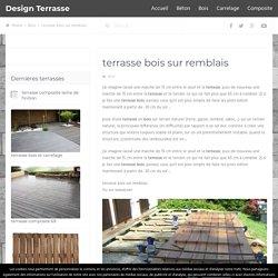 terrasse bois sur remblais