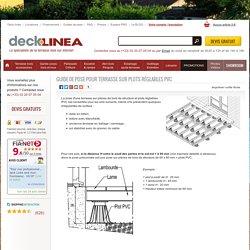 Terrasse sur chevron et plot PVC - guide de pose terrasse sur chevron