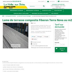 Lame de terrasse composite Fiberon Terra Nova au m²