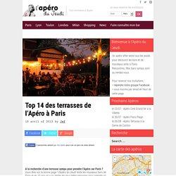Top 14 des terrasses de l'Apéro à Paris