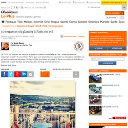 10 terrasses où glander à Paris cet été