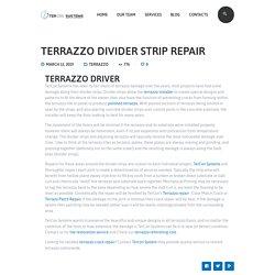 Terrazzo Divider Strip Repair - Tercon Systems