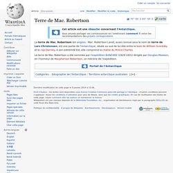 Terre de Mac. Robertson