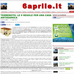 TERREMOTO: LE 9 REGOLE PER UNA CASA ANTISISMICA