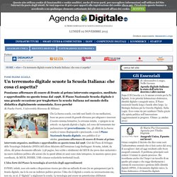 Un terremoto digitale scuote la Scuola Italiana: che cosa ci aspetta?