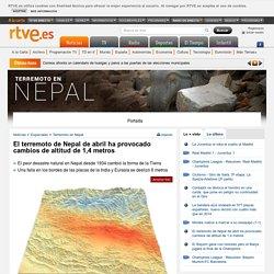 El terremoto de Nepal de abril ha provocado cambios de altitud de 1,4 metros