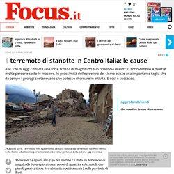 Il terremoto di stanotte in Centro Italia: le cause