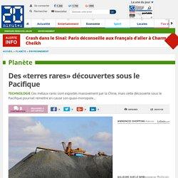 Des «terres rares» découvertes sous le Pacifique