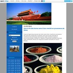 terres rares : La Chine aujourd'hui