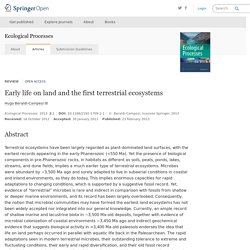 Early life on land and the first terrestrial ecosystems
