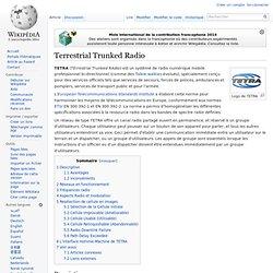 TETRA Terrestrial Trunked Radio