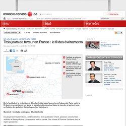 Trois jours de terreur en France : le fil des événements
