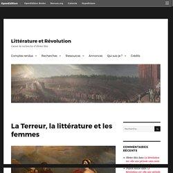 La Terreur, la littérature et les femmes – Littérature et Révolution