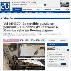 Vol MH370: Le terrible puzzle se poursuit... Un débris d'aile trouvé à Maurice relié au Boeing disparu