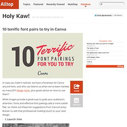 10 terrific font pairs to try in Canva