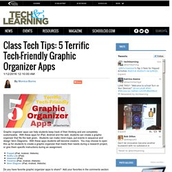 Class Tech Tips: 5 Terrific Tech-Friendly Graphic Organizer Apps