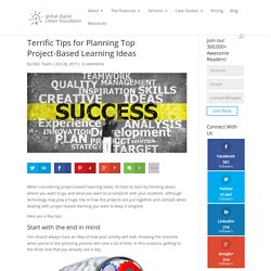 Terrific Tips for Planning Top Project-Based Learning Ideas