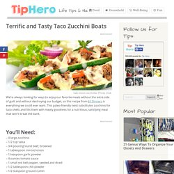 Terrific and Tasty Taco Zucchini Boats