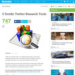 5 Terrific Twitter Research Tools