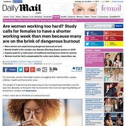 Men from Mars, women from Venus: terrifying truth behind experts call for shortened work week girls