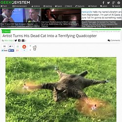 Artist Turns his Dead Cat Into Quadrotor Helicopter