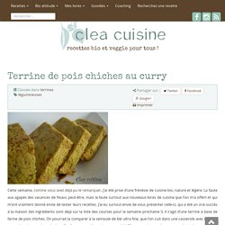 Terrine de pois chiches au curry