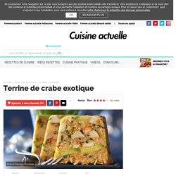 Terrine de crabe exotique