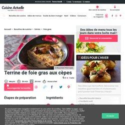 Terrine de foie gras aux cèpes