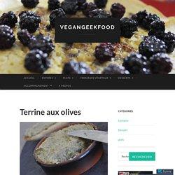 Terrine aux olives