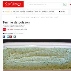 Terrine de poisson - recette de farce mousseline de merlan