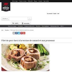 Filet de porc farci à la terrine de canard et aux pruneaux