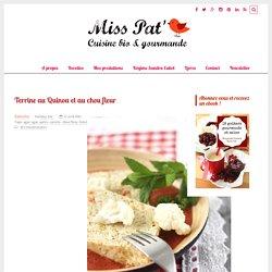 Terrine au Quinoa et au chou fleur - Miss Pat' ~ carotte, panais, brocoli, courgette, aubergine, poivron, etc
