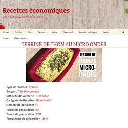 Terrine de thon au micro ondes - recettes de cuisine avec Thermomix ou pas