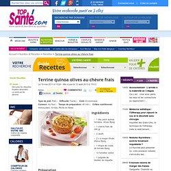 Terrine Quinoa, tomates, olives au chèvre frais