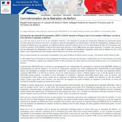Les services de l'État dans le Territoire de Belfort: Commémoration de la libération de Belfort