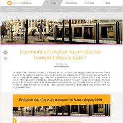 Comment ont évolué nos modes de transport depuis 1990 ?