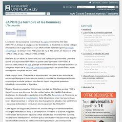 JAPON (Le territoire et les hommes) - L'économie