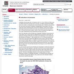 Territoire - Atlas des zones d'emploi 2010 - Indicateur de jeunesse